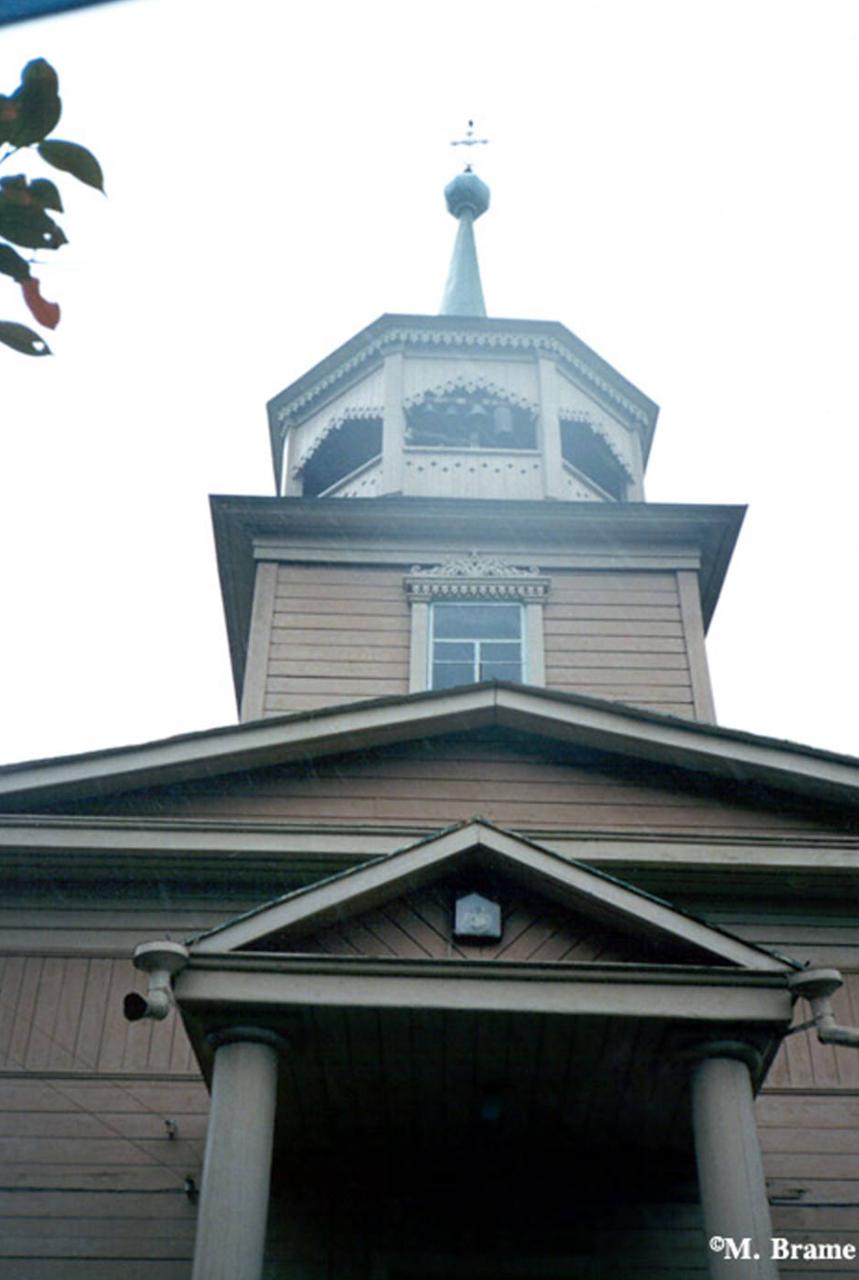 Иркутск. Святоникольская церковь на берегу Байкала в Листвянке
