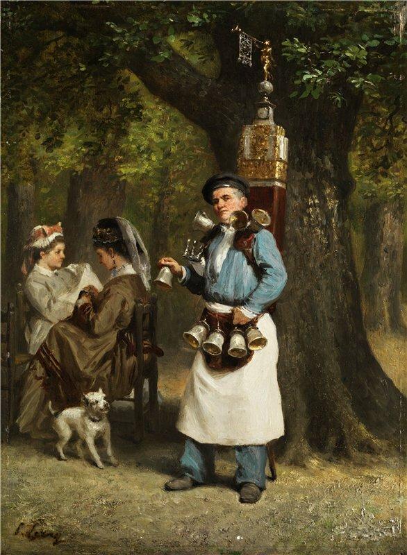 Prudent Louis Leray Les vendeurs boire. 1879 г.