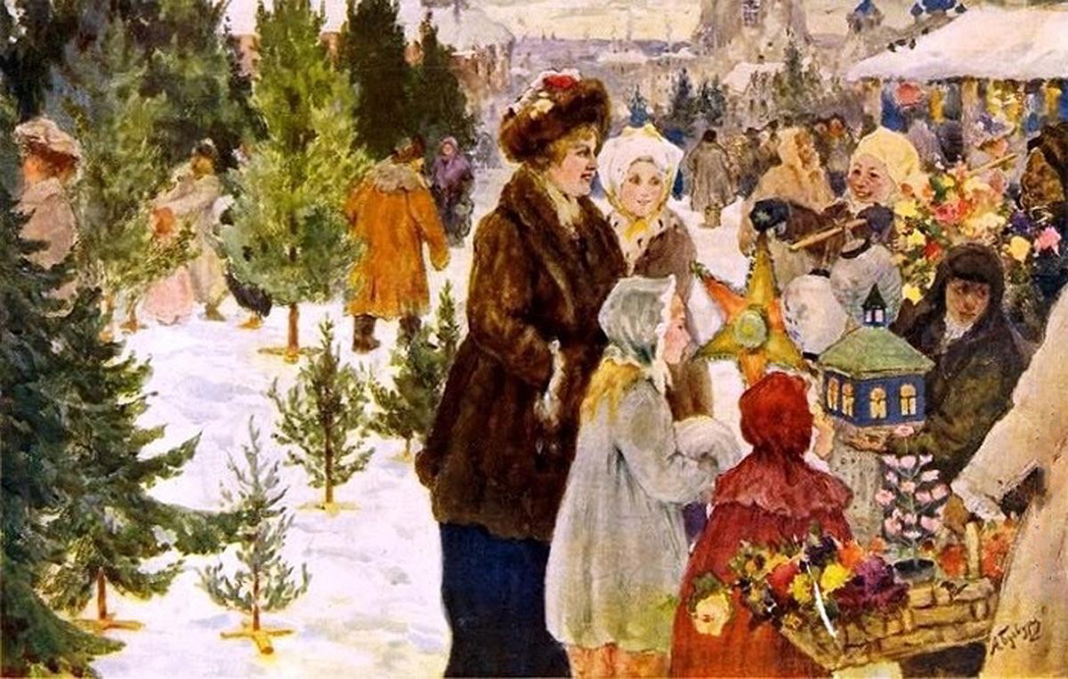 Рождественский базар, 1906, Бучкури Александр Алексеевич(1870-1942)