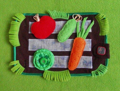 Развивающий игровой коврик... Овощная радость!