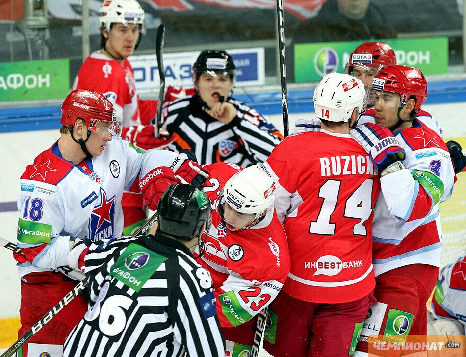 «Спартак» vs ЦСКА 1:3 чемпионат КХЛ 2011-2012 (Фото)