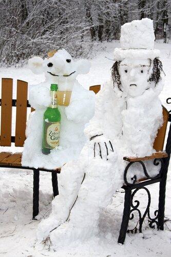 ПУШКИН из снега