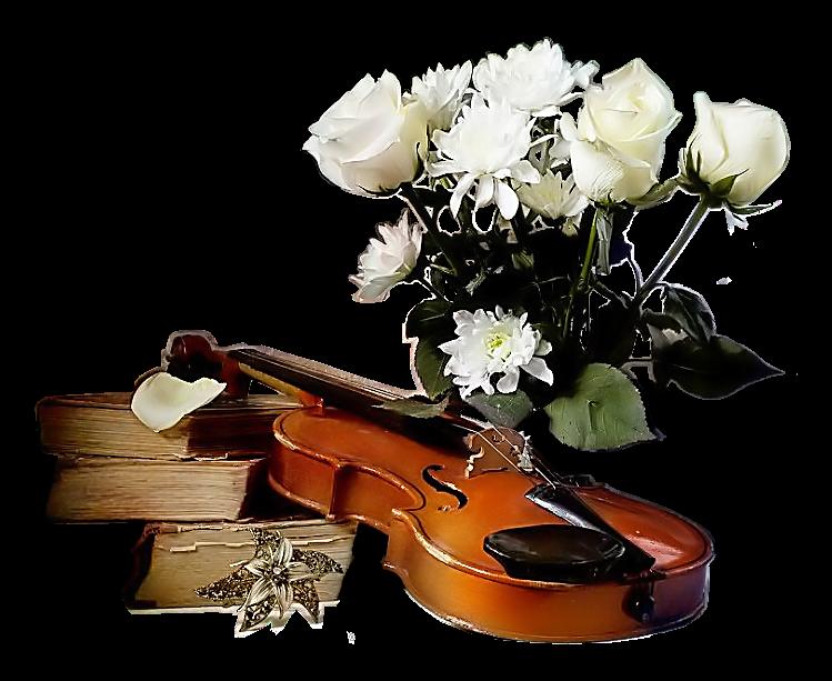 Открытки с музыкальными инструментами и цветами, открытки сыну родителей