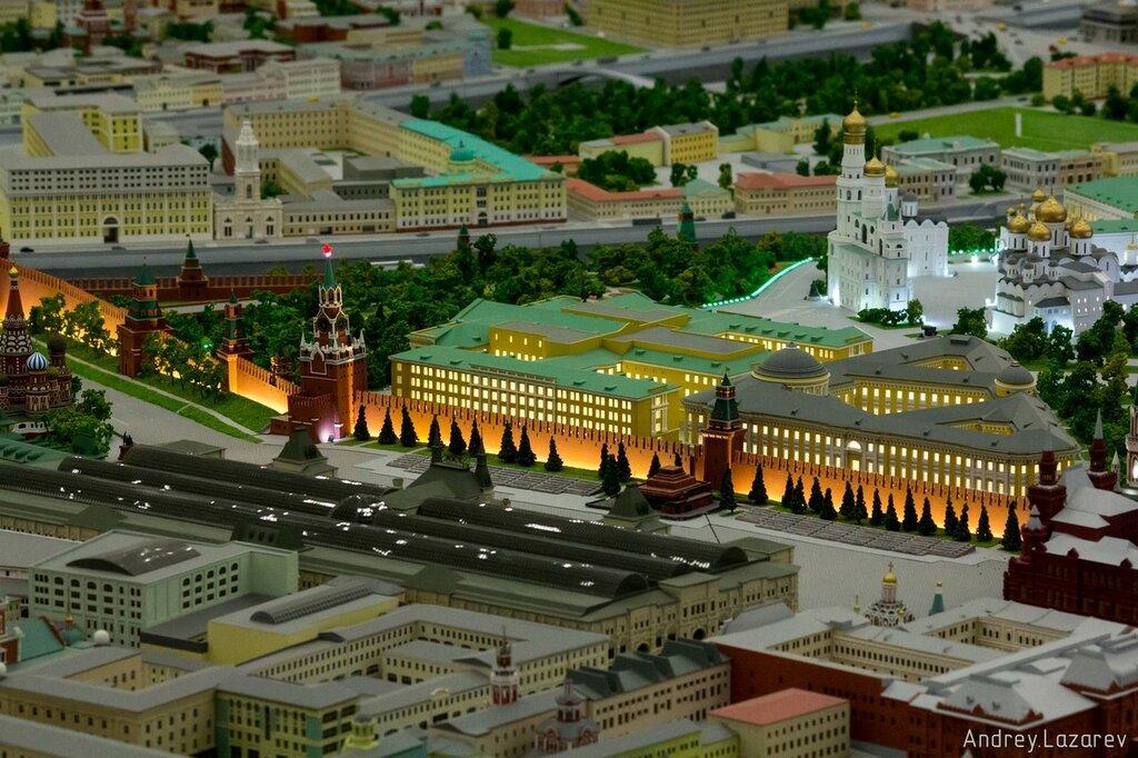 раз макет центра москвы фото территории курорта