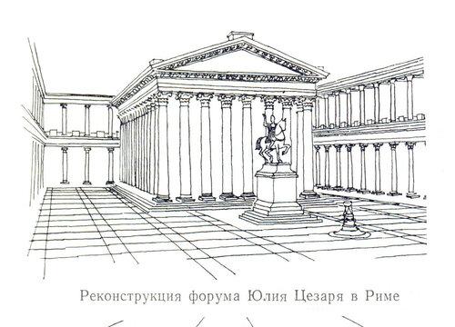 Форум Юлия Цезаря в Риме, реконструкция