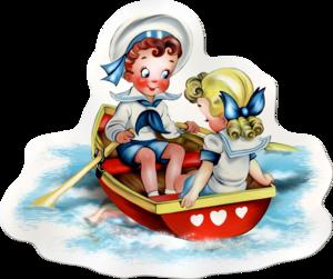 дети в лодке