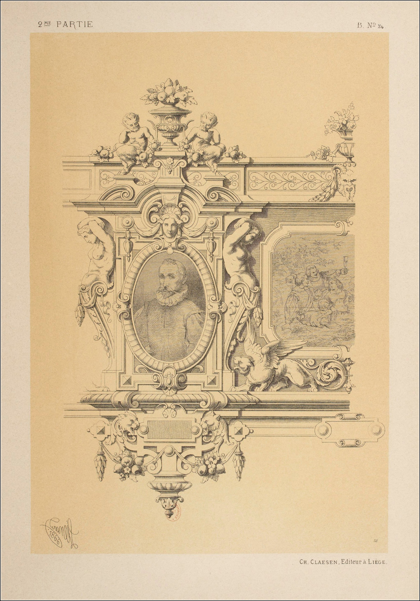 Michel Liénard, Specimens de la décoration