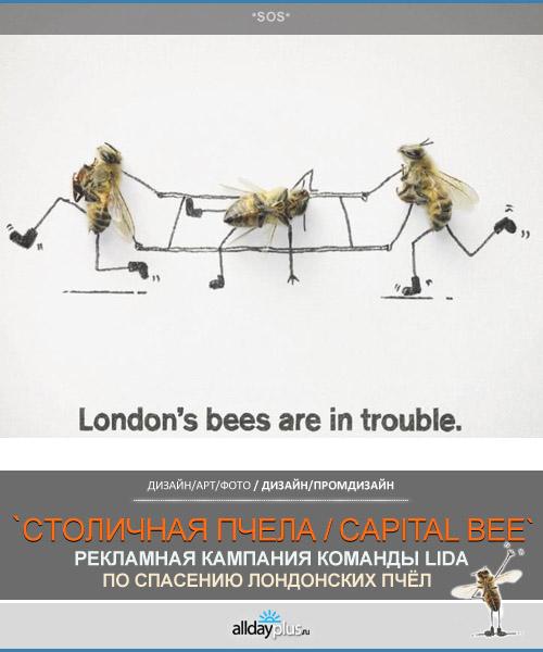 """Рекламная кампания """"Лондонские пчелы в беде"""""""