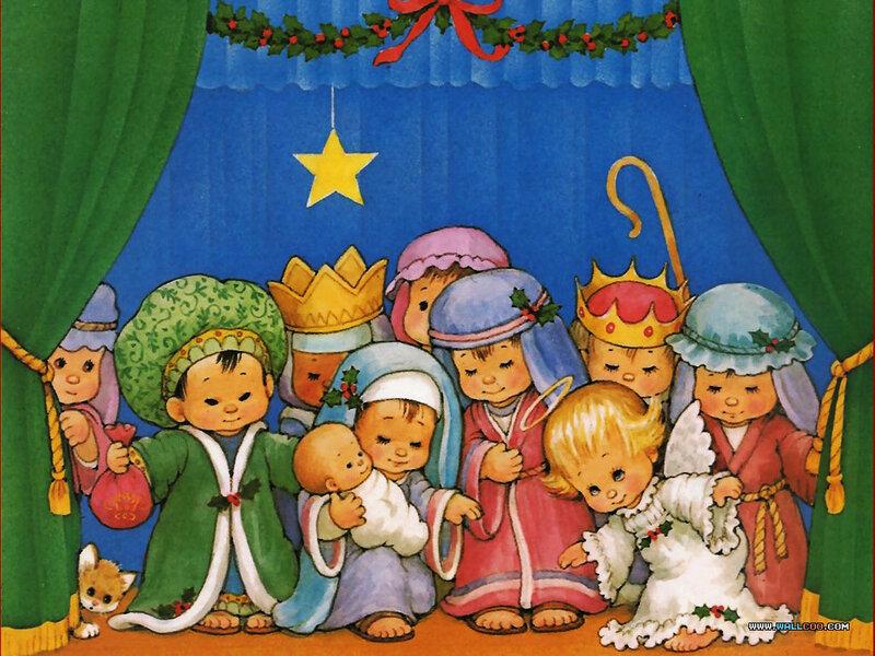 Гифка, картинка рождество для детей