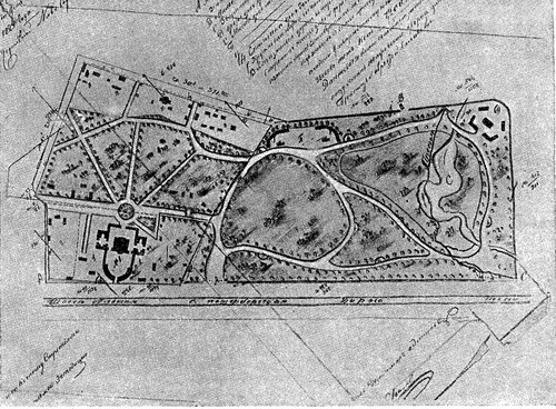Рисунок 73. План Петровского парка (ЦГАДА).