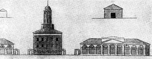 Рисунок 82. Пожарное депо, фасад (ЦГАДА).