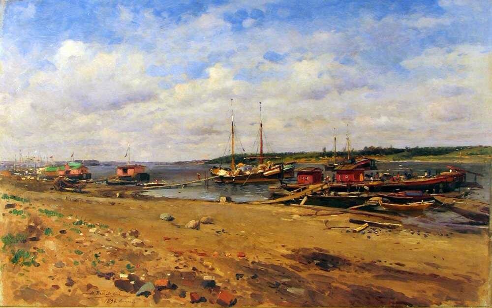 Владимир Егорович Маковский (1846 - 1920). Волга, 1896.