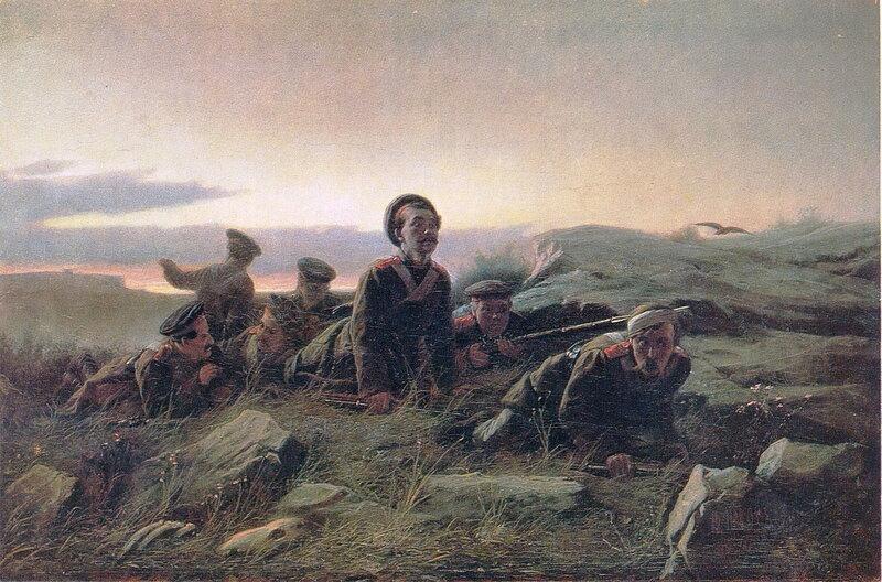 018. Пластуны под Севастополем. 1874