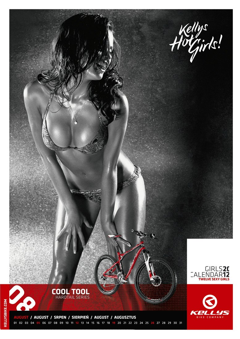 Обнаженные девушки в календаре производителя велосипедов Kellys на 2012 год - август