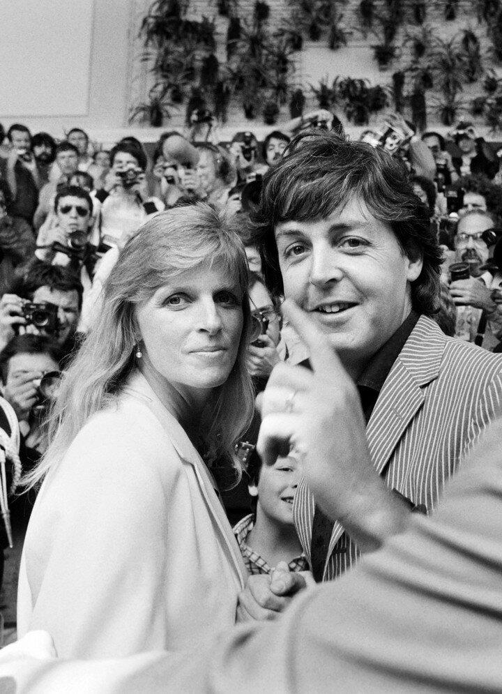 Paul Mccartney  Linda McCartney 1980
