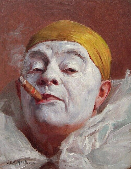 Armand Henrion (Belgium 1875 - France 1958), Clown with Cigar, 1920s