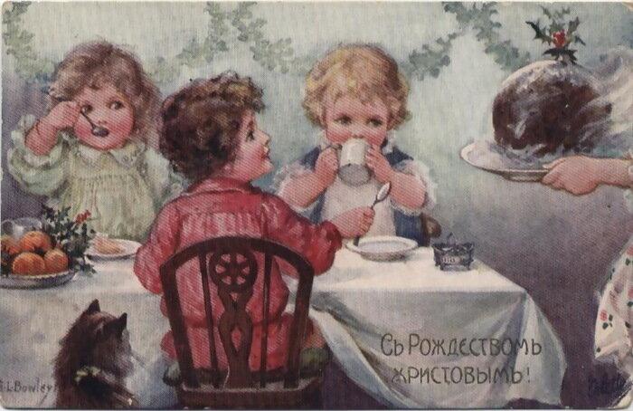 Vintage Christmas postcards. Винтажные рождественские открытки