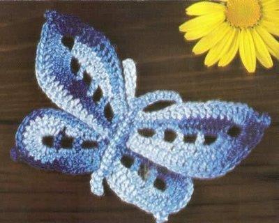 Бабочки связанные крючком.