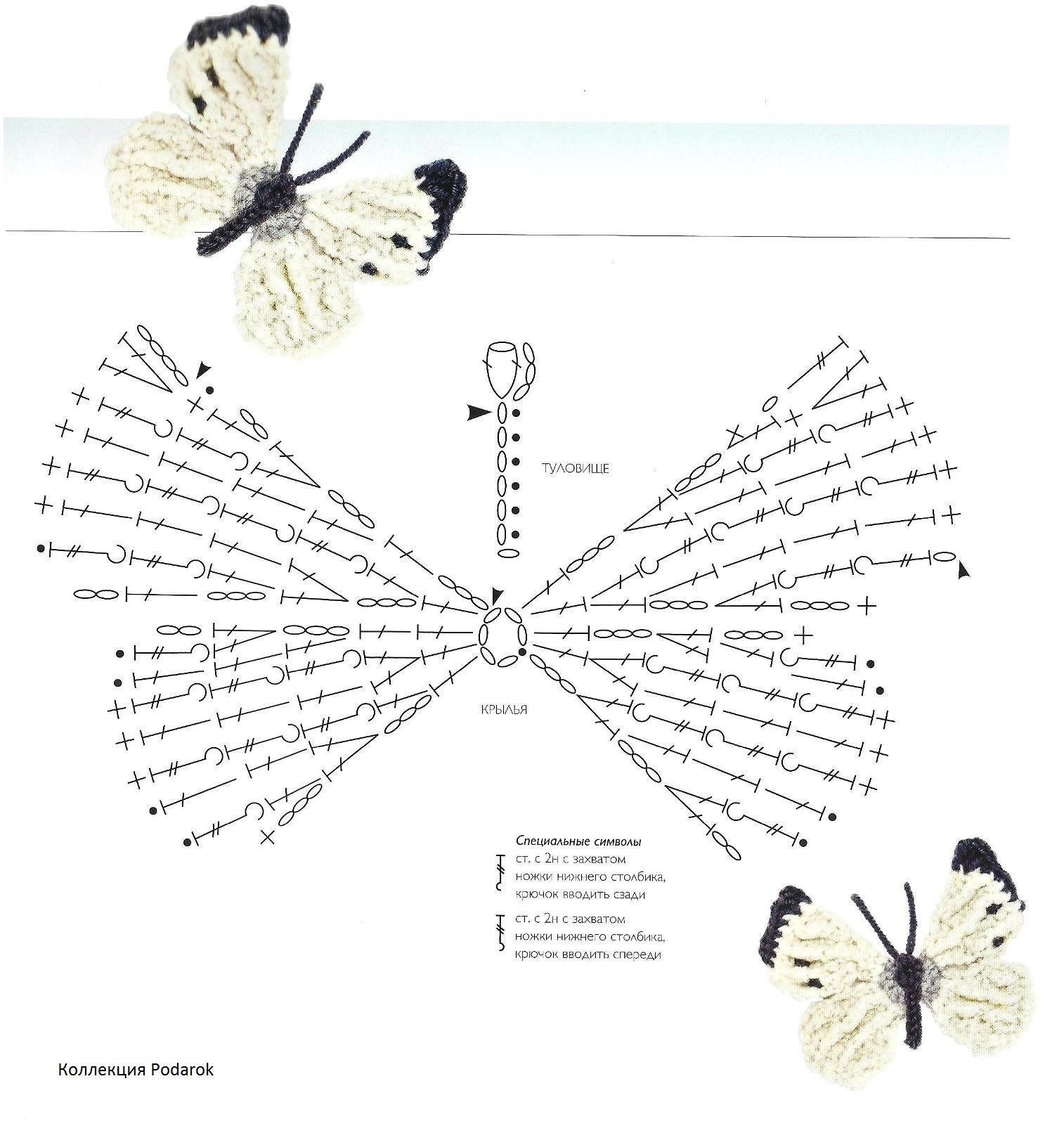 Журнал Птички, бабочки, цветочки крючком и спицами.