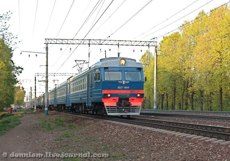 Электропоезд ЭД2Т-0041, участок Строитель - Мытищи.