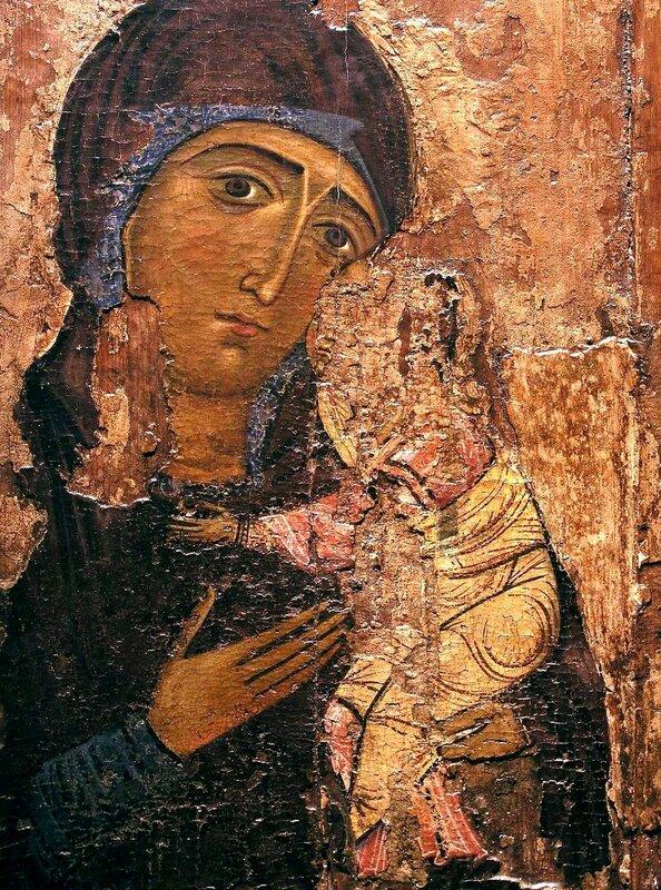Богоматерь с Младенцем. Икона. Кипр.