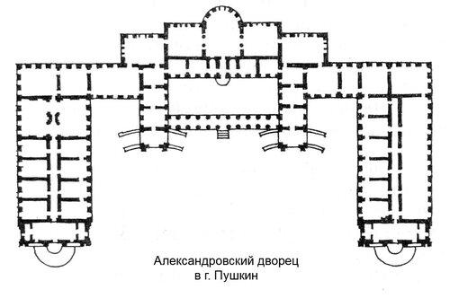 Александровский дворец в Царском селе, план