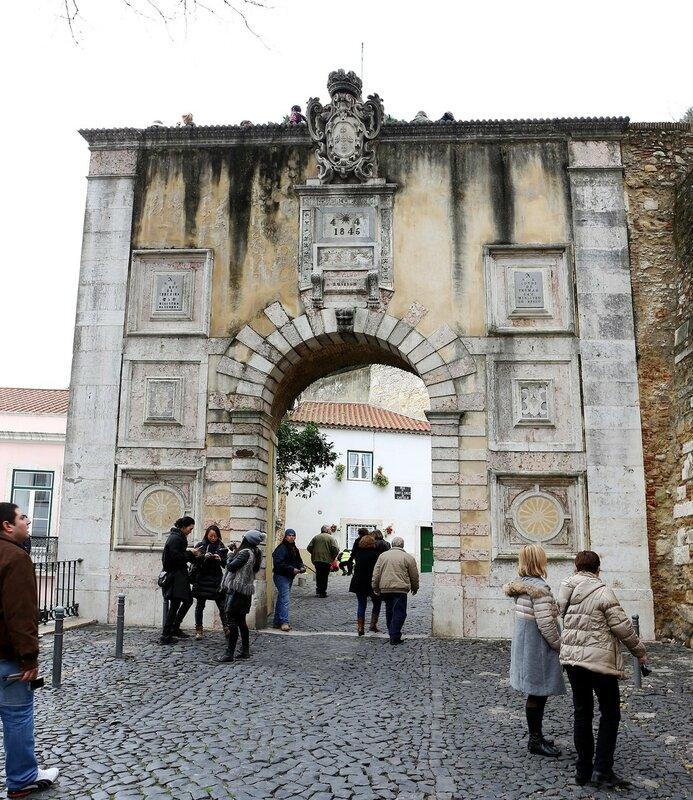 Lisbon. St. George's castle (Castelo de São Jorge)