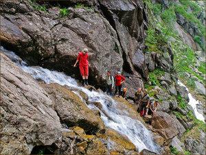 Пересечение водопада