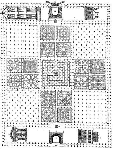 Рисунок 72. Сад при Потешных палатах (чертёж XVII века).