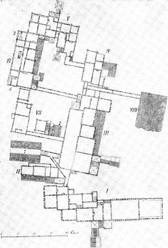 Рисунок 88. План верхнего этажа Коломенского дворца (И. Забелин).