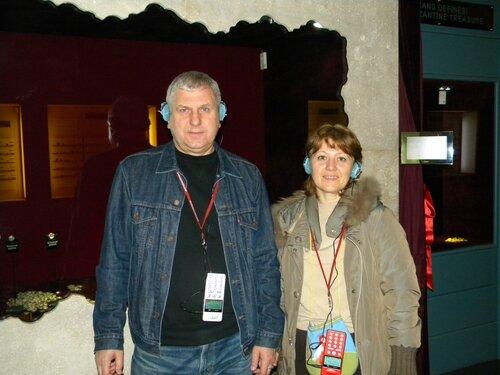Валерий Костин, Лена Воронова в арх. музее Анталии