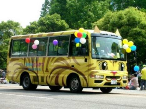 школьные автобусы в Японии