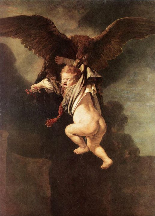 Rembrandt Harmenszoon Van Rijn, The abduction of Ganymede