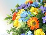 Летний букетик цветов с дачи.