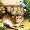 Аватар котокошка и бабочка