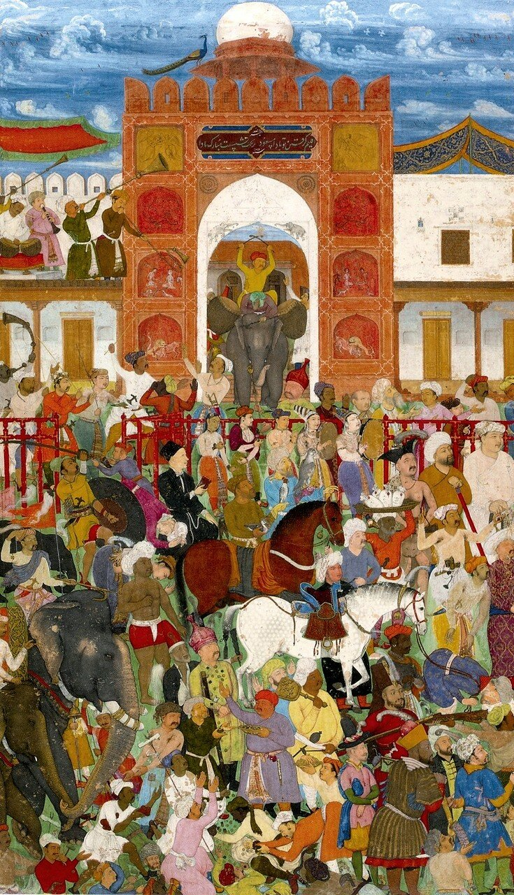 8_Abu'l_Hasan__Celebrations_at_the_accession_of_Jahangir__Jahangirnama__St__Petersburg_Album__ca__1615-18,_Institute_of_Oriental_Studies,_St__Petersburg.jpg