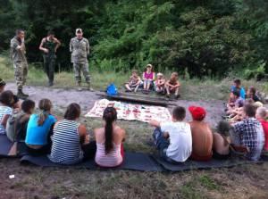 ПС принял участие в проведении патриотического лагеря для детей на Луганщине