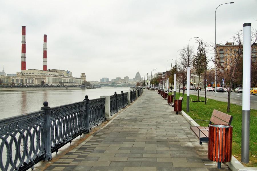 К следующему году московские набережные будут благоустроены