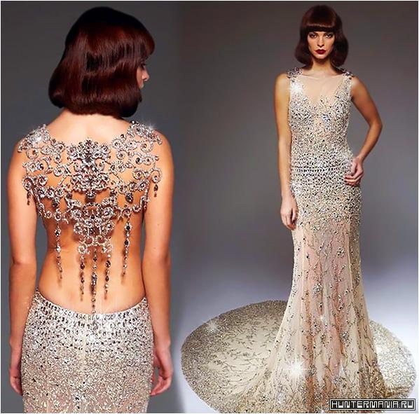 Эксклюзивное хрустальное платье Ralph & Russo