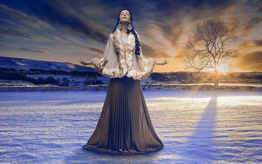 Новый год Девушка зима Картинки Сказка