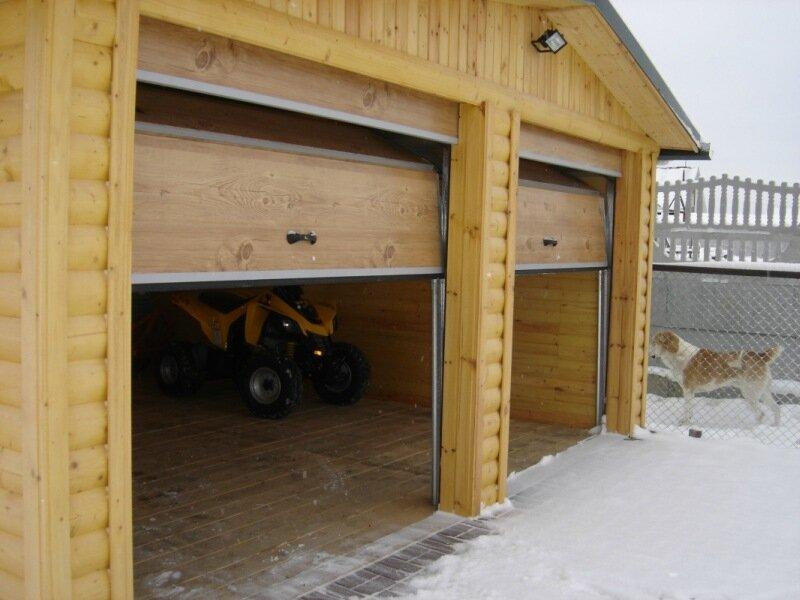 Ворота для гаража из дерева своими руками