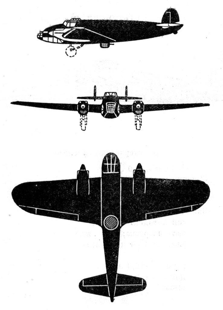 Силуэты итальянских самолетов (1939) 029