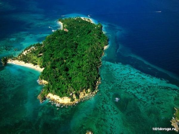 35. Вокруг Борнео очень много маленьких и живописных островков. 36. На одном из таких островков есть