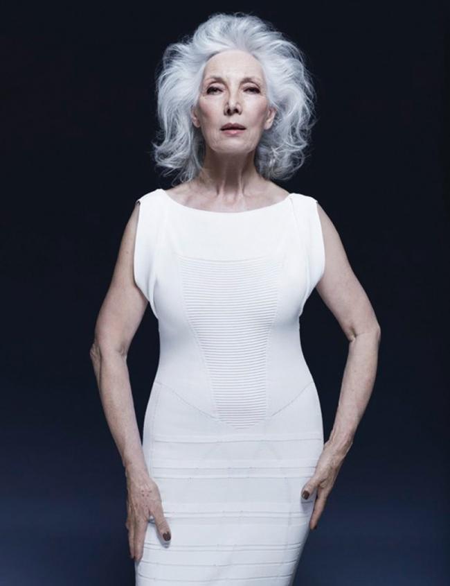 Валери Пан, 75 лет Начала карьеру модели в 60-х, а в возрасте 65 лет снова вернулась в модельный биз