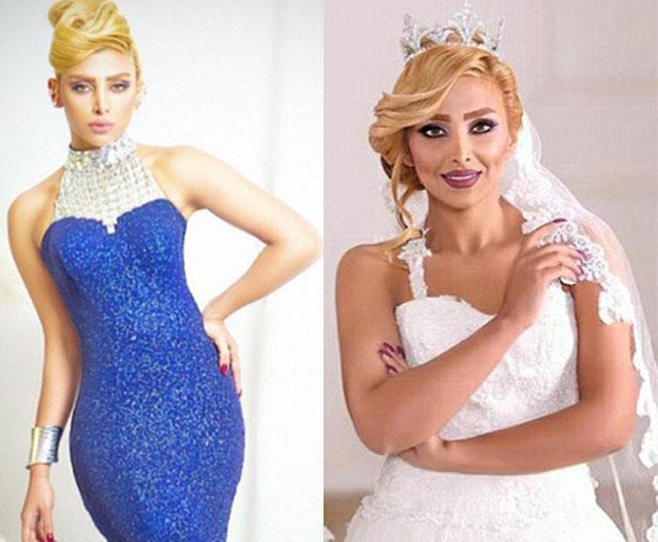 Эльхам Араб Одну известную красотку, Эльхам Араб, знаменитую благодаря своим фотосессиям в свадебных