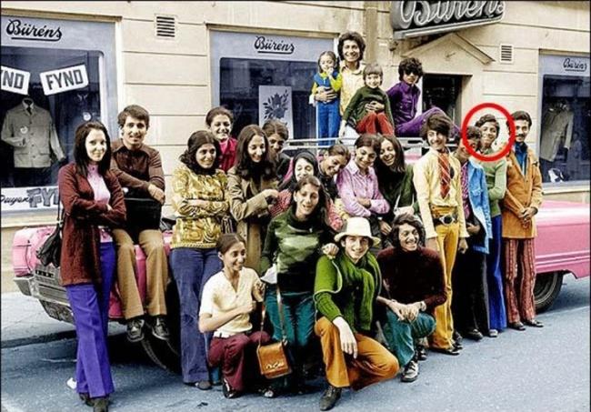 Усама бен Ладен на семейном отдыхе в Швеции, 1970 год.