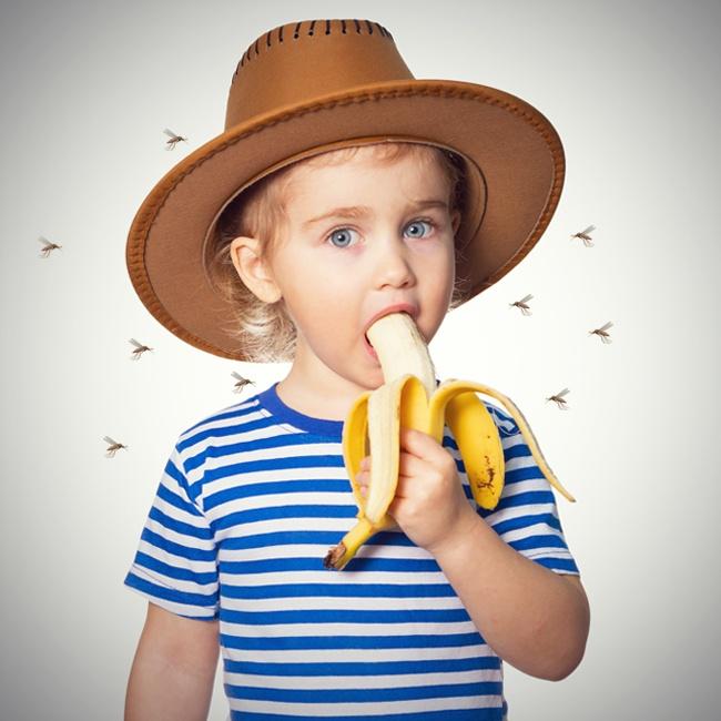 Бананы Наверняка вам покажется это странным, но комаров привлекают люди, которые недавно съели банан
