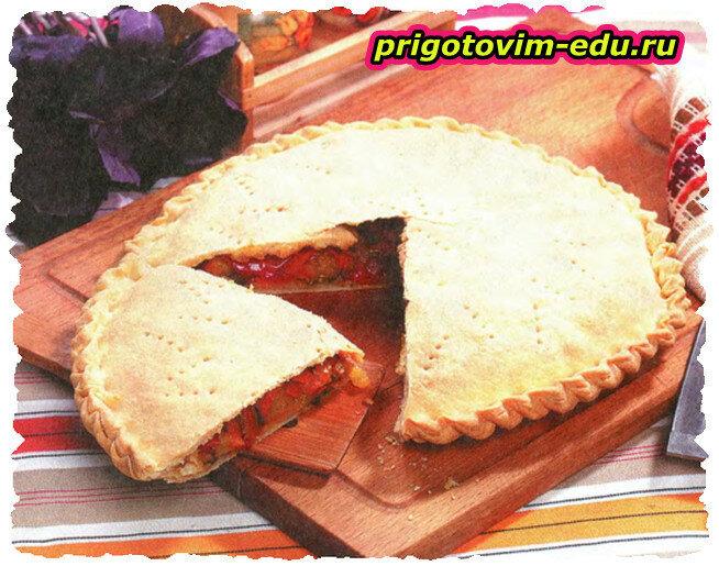 Пирог с помидорами и баклажанами