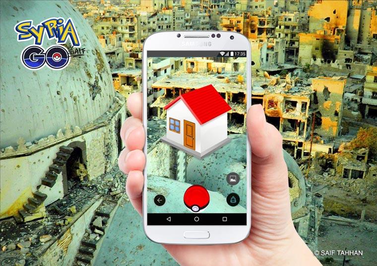 Syria GO - Syrian designer creates a satirical parody of Pokemon GO