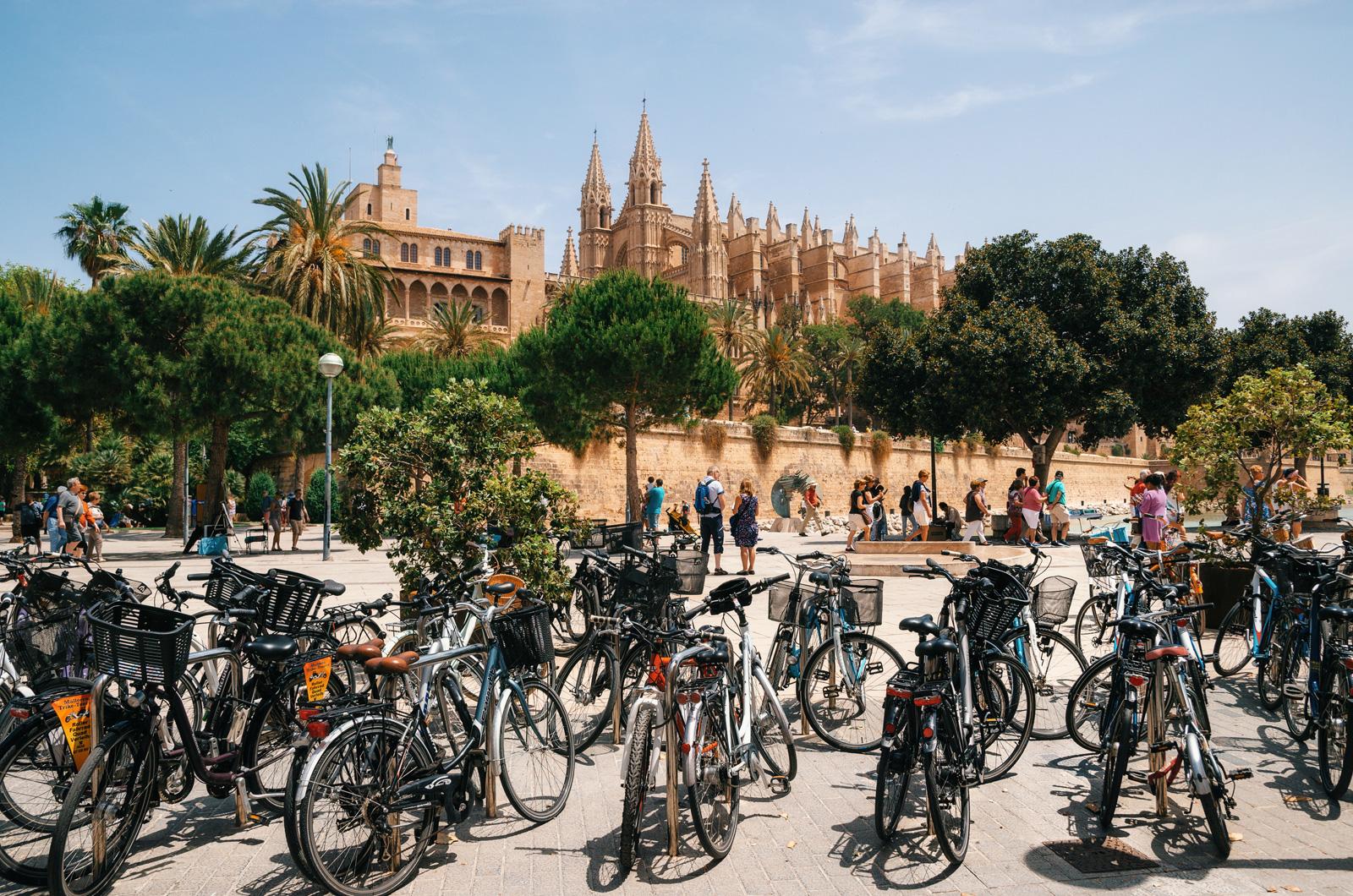 Многие туристы прилетают на Майорку, чтобы вдоволь покататься на велосипедах, Пальма